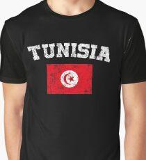 Tunisian Flag Shirt - Vintage Tunisia T-Shirt Graphic T-Shirt