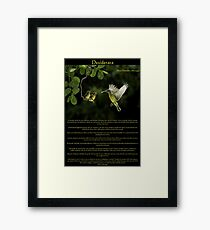 Desiderata with Hummingbirds  Framed Print