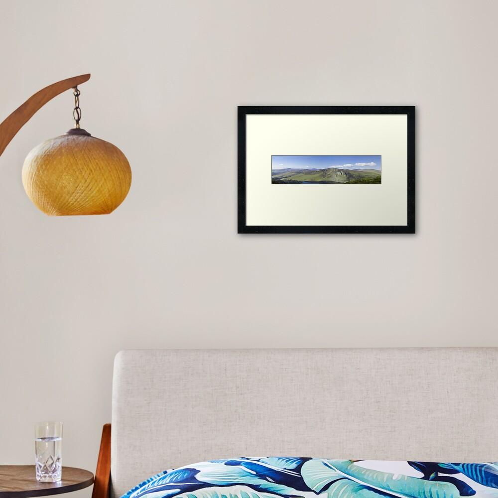 Wicklow Mountains, Ireland - Panoramic  Framed Art Print