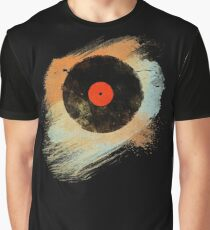 Vinyl Record Retro T-Shirt - Vinyl Records Modern Grunge Design Graphic T-Shirt