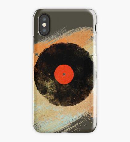 Vinyl Record Retro T-Shirt - Vinyl Records Modern Grunge Design iPhone Case/Skin