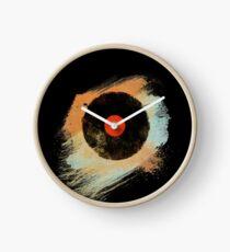 Vinyl Record Retro T-Shirt - Vinyl Records Modern Grunge Design Clock