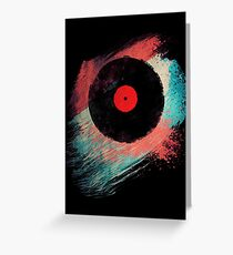 Vinyl Record - Modern Vinyl Records Grunge Design - Tshirt and more Greeting Card