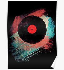 Vinyl Record - Modern Vinyl Records Grunge Design - Tshirt and more Poster