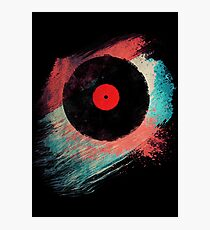 Vinyl Record - Modern Vinyl Records Grunge Design - Tshirt and more Photographic Print