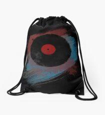 Vinyl Record - Modern Vinyl Records Grunge Design - Tshirt and more Drawstring Bag