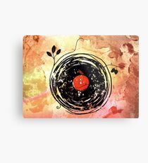 Enchanting Vinyl Records Grunge Art  Metal Print