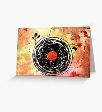 Enchanting Vinyl Records Grunge Art  Greeting Card