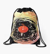 Enchanting Vinyl Records Grunge Art  Drawstring Bag