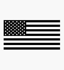 American Flag - Black & White Photographic Print