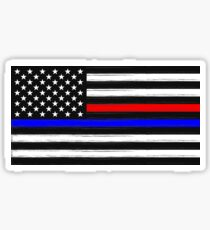 American Flag - Thin Blue and Red Line Sticker