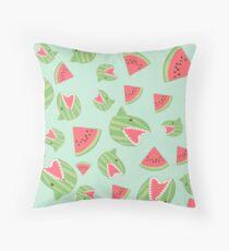 Watermelon Shark Throw Pillow