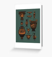 Ancient Greek Pottery Greeting Card