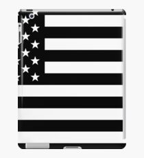 American Flag - Black & White iPad Case/Skin