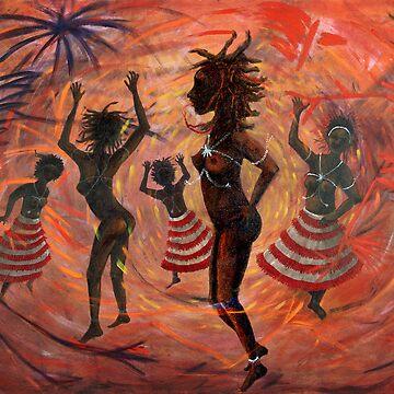 African Ritual Dance by lynettejoy