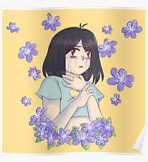 Flower Kid (Purple Round Lobed Hepatica) Poster