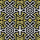 Funky Black n Gold Aztec Pattern by webgrrl