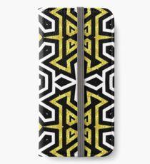 Funky Black n Gold Aztec Pattern iPhone Wallet/Case/Skin