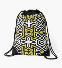 Funky Black n Gold Aztec Pattern Drawstring Bag