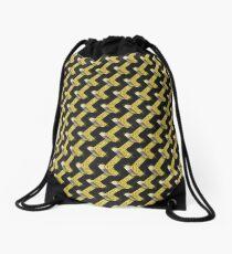 Black and Gold Pattern series Drawstring Bag
