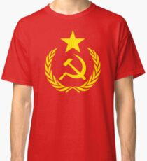 Hammer and Sickle Communist Flag Classic T-Shirt