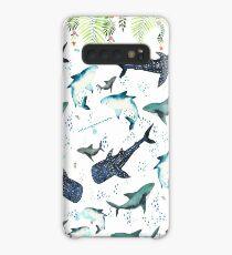floral shark pattern Case/Skin for Samsung Galaxy
