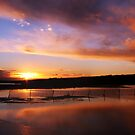 Meningie Sunset by Steve Chapple