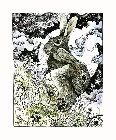 Hares in the Hedgerows by nomeart