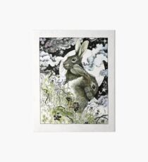 Hares in the Hedgerows Art Board