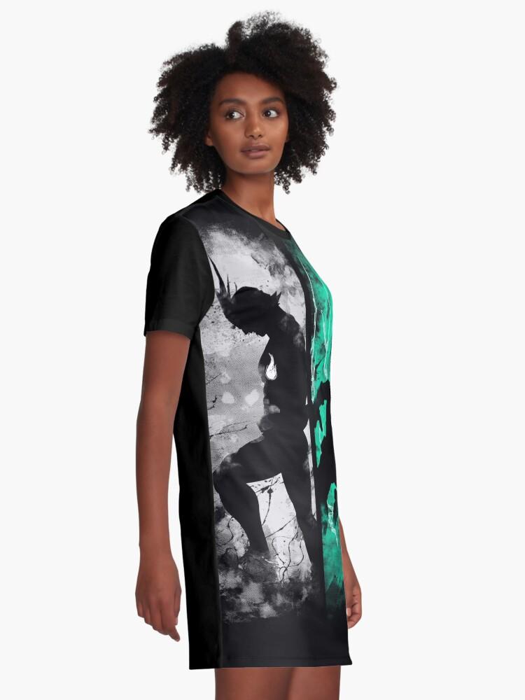 Vista alternativa de Vestido camiseta Uno para todos