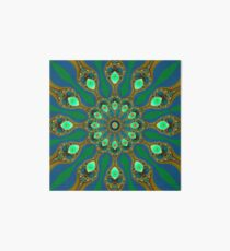 Fractal jewel mandala Art Board
