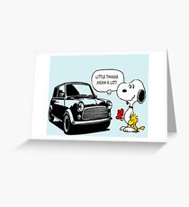Mini things mean a lot Greeting Card