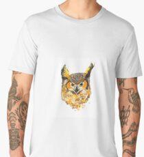 Watercolour Owl Men's Premium T-Shirt