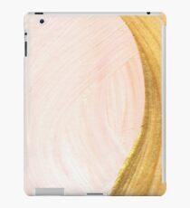Pastel blush rose gold brush strokes iPad Case/Skin