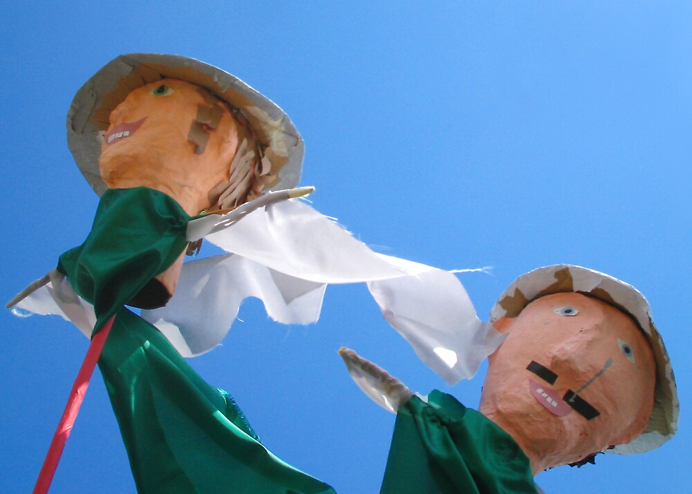 Puppets at the seaside by abby hughes