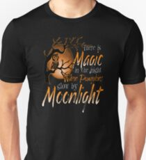 Magic When Pumpkin glow Moonlight Halloween Shirt T-Shirt