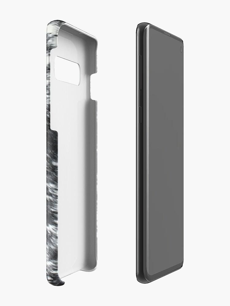 Vista alternativa de Funda y vinilo para Samsung Galaxy Cuero de vaca negro y blanco | Textura