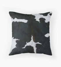 Black and white cowhide | Texture Throw Pillow