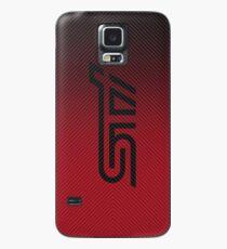 Funda/vinilo para Samsung Galaxy Fibra de carbono STI