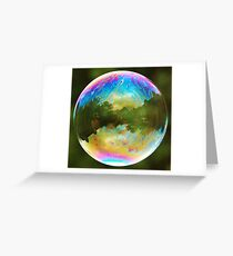 Planet Bubble Greeting Card