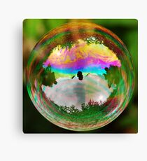 Leafy Bubble Canvas Print