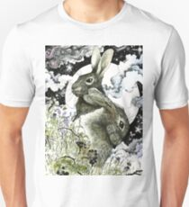 Hares in the Hedgerows Unisex T-Shirt