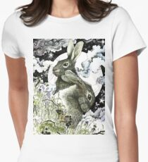 Hares in the Hedgerows Women's Fitted T-Shirt