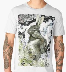 Hares in the Hedgerows Men's Premium T-Shirt