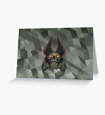 Skeleton King Low Poly Art Greeting Card