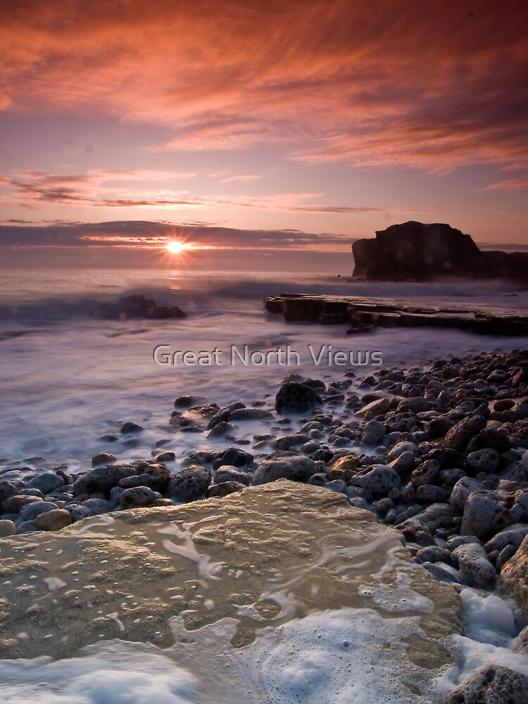 Sunrise at Trow Rocks by Great North Views
