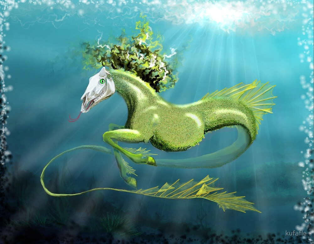 slull-head-equine-serpent by kufafle