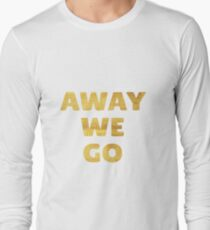 Away We Go in Gold T-Shirt