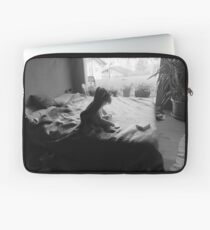 Willow on bed Laptop Sleeve