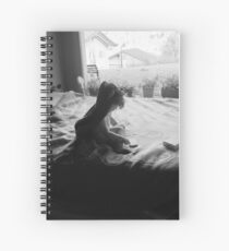 Willow on bed Spiral Notebook